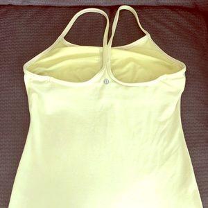 Lululemon light green tank with shelf bra